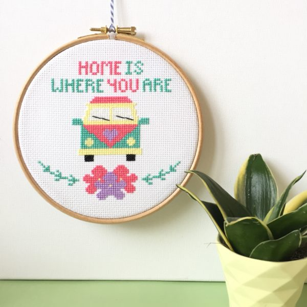 camper-van-cross-stitch-wall-hanging