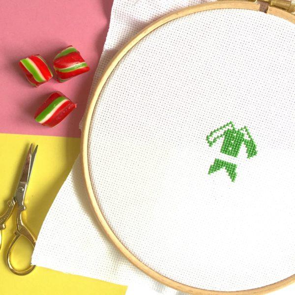 christmas-elf-cross-stitch-work-in-progress