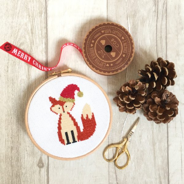 christmas-fox-cross-stitch-hoop-with-pinecone-prop