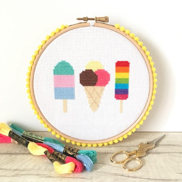 ice-cream-cross-stitch-hoop