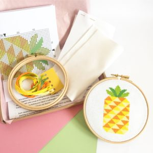 pineapple-cross-stitch-kit-supplies