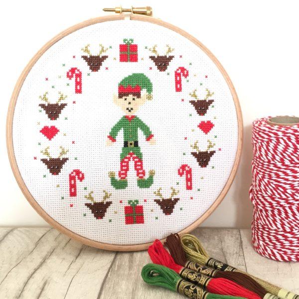 christmas-elf-cross-stitch-hoop