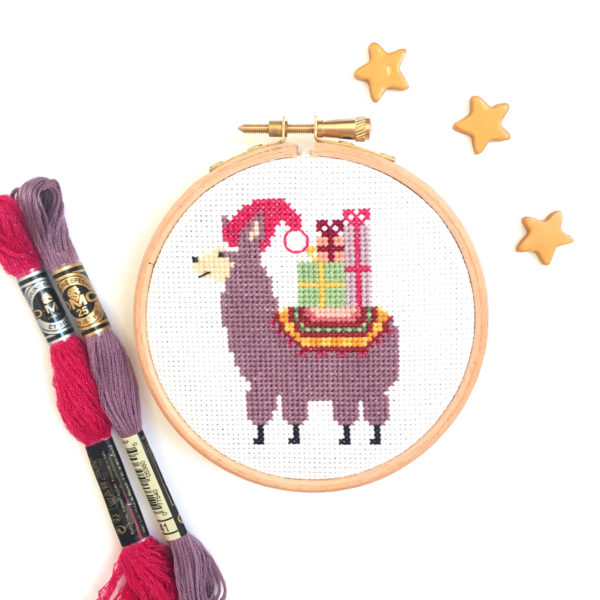 christmas-llama-cross-stitch-hoop