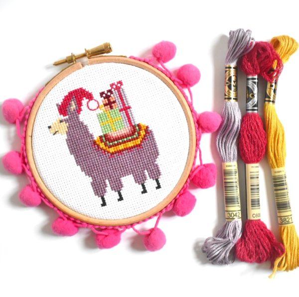 christmas-llama-cross-stitch-kit-hoop