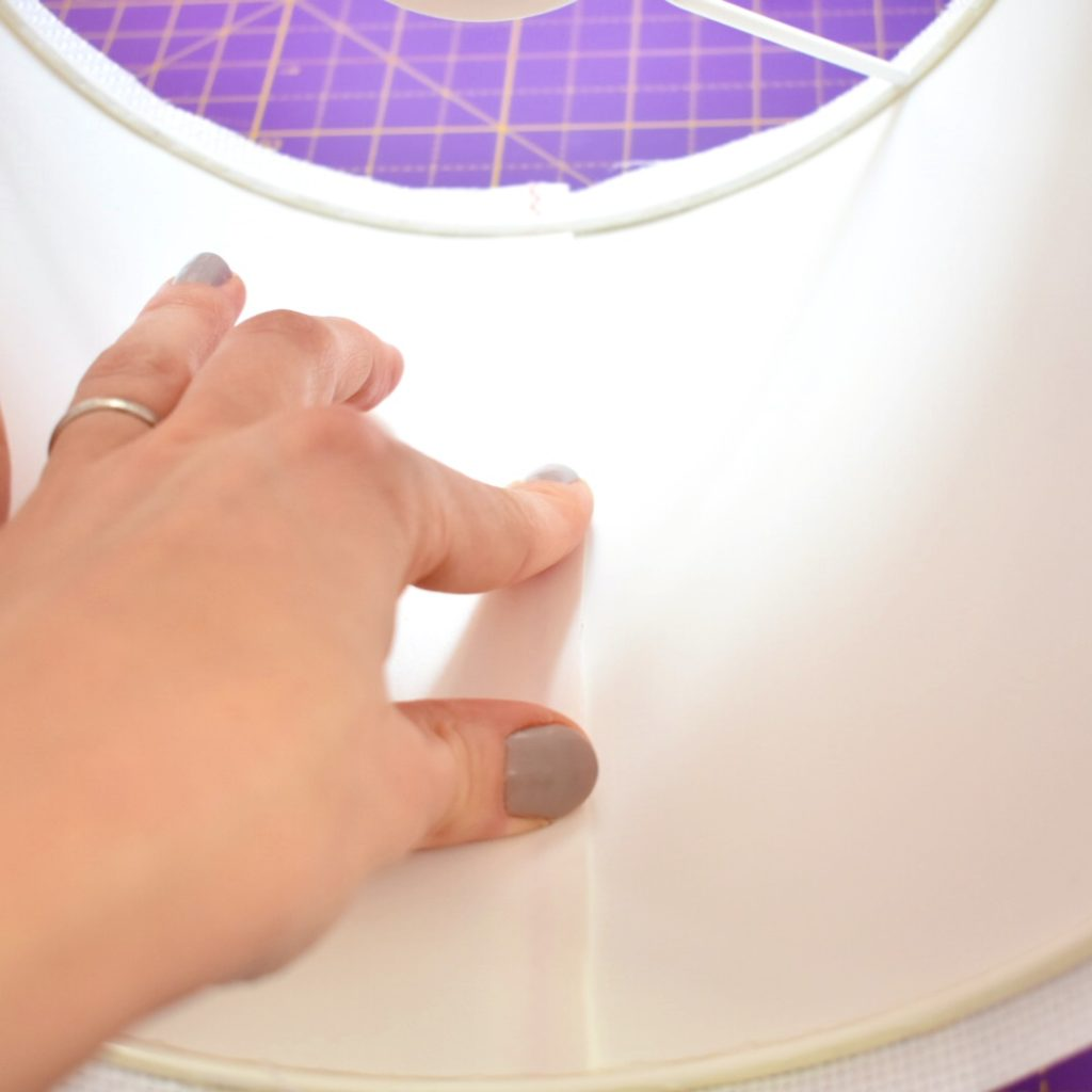 how-to-make-a-cross-stitch-lampshade-press-edges-together