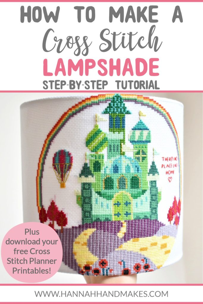 How to Make a Cross Stitch Lampshade in 10 Easy Steps by Hannah Hand Makes.