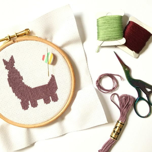 llama-cross-stitch-hoop-stitching