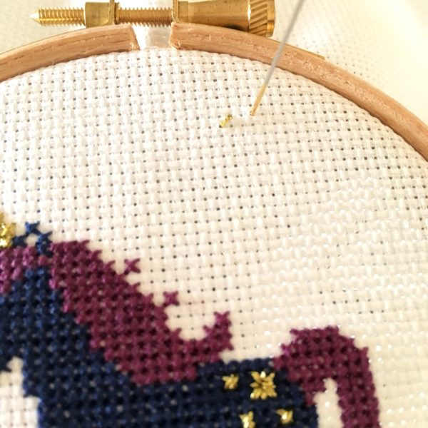 sleepy-unicorn-cross-stitch-wip