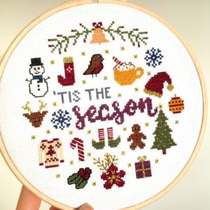 tis-the-season-cross-stitch-hoop