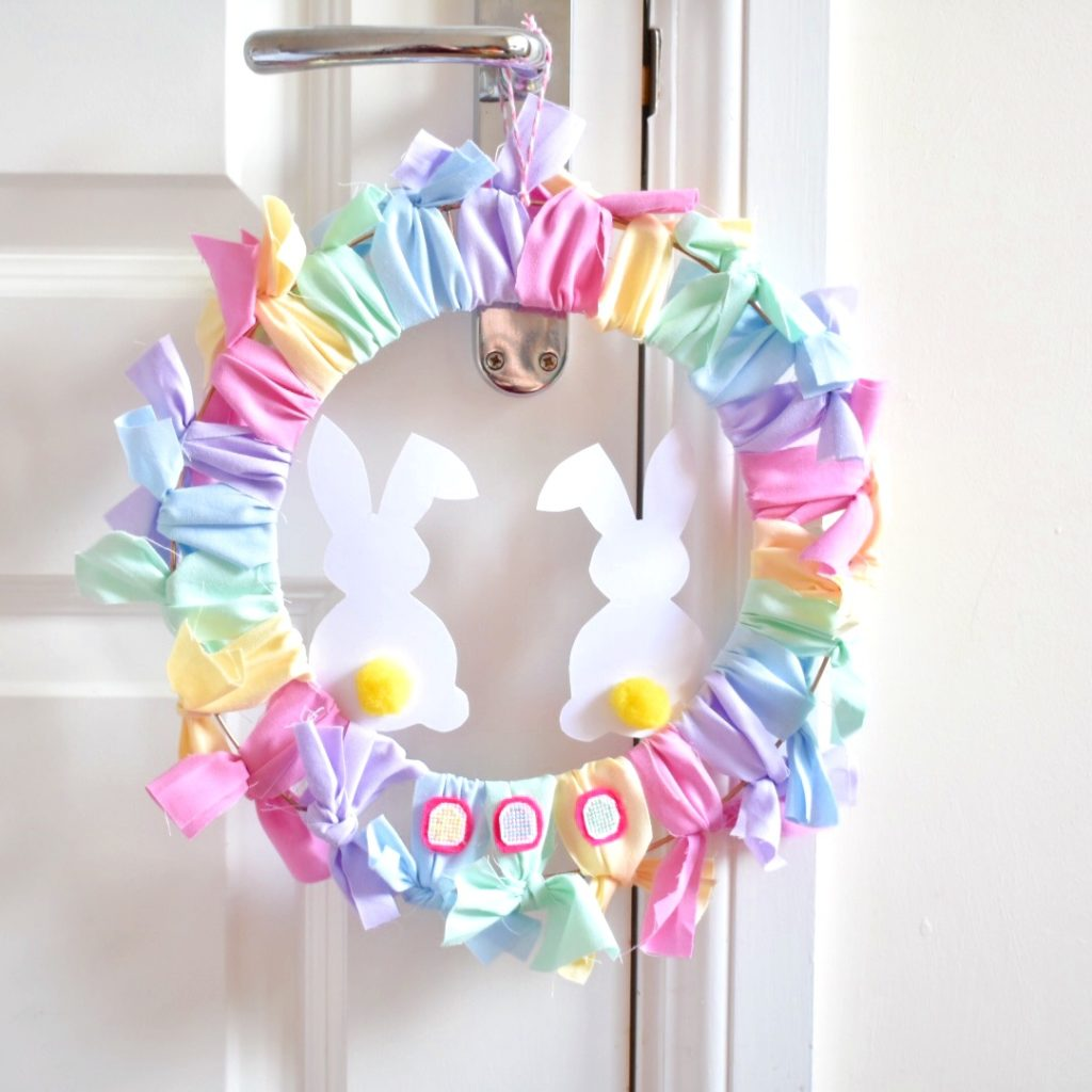finished-diy-easter-wreath-hanging-up
