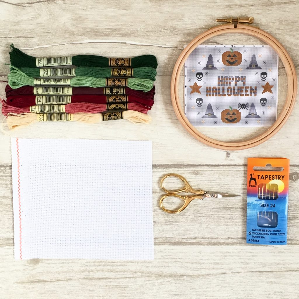 Counted Cross Stitch Kit MAKE YOUR OWN HANDS Welcome