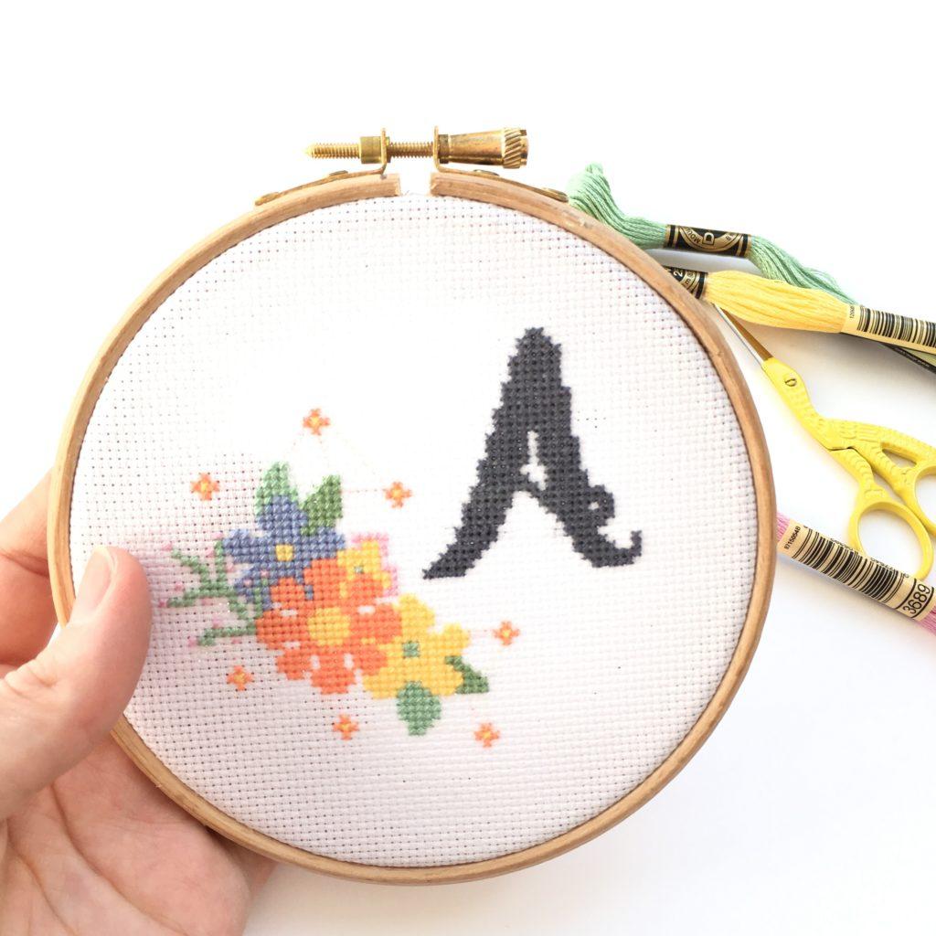 monogram-cross-stitch-kit-A
