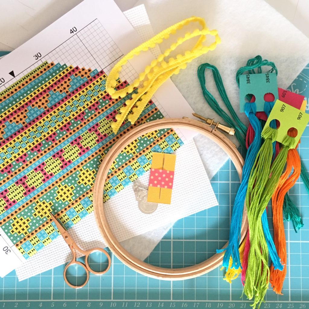bright-easter-egg-cross-stitch-kit-supplies