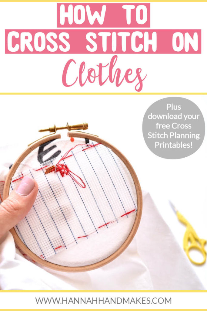 In this post, I'm going to share how to cross stitch on clothes in 7 simple steps. This tutorial could also work for cross stitching on towels or blankets etc.  I chose to stitch on my Friends t-shirt. Step 1: Cut your canvas. Step 2: Place your canvas on to your clothes. Step 3: Baste your canvas on to your clothes. Step 4: Start cross stitching! Step 5: Take it all off. Step 6: Cut your canvas. Step 7: Take the canvas away. Click to read the full instructions with photos!