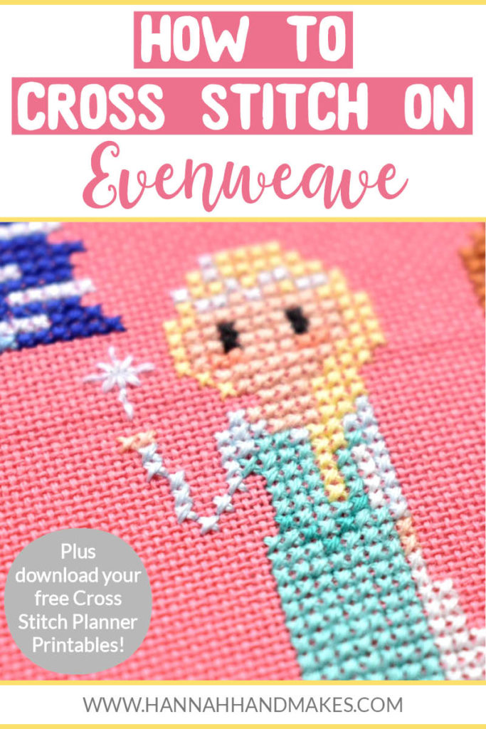 How to cross stitch on evenweave; what to do before you start stitching, what you need to stitch and how to do a cross stitch on evenweave.