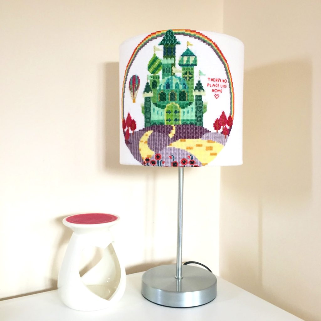how-to-make-a-cross-stitch-lampshade