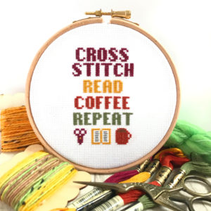 Cosy Cross Stitch Kit For Beginners by Hannah Hand Makes