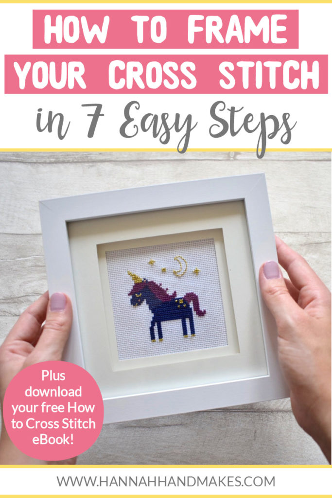 In this post, I am sharing how to frame your cross stitch in 7 easy steps. This tutorial works particularly well for smaller cross stitch projects but can also work for larger ones.