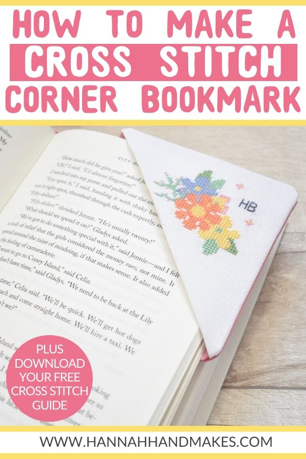 HOW TO MAKE A CROSS STITCH CORNER BOOKMARK PIN